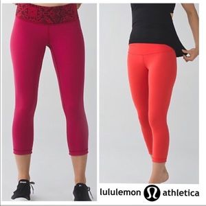 Lululemon reversible 7/8 yoga pant